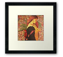then nightly sings the staring owl, Framed Print