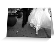 Just Married Shoes  Greeting Card