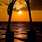 Sunset Through the Pier by Davinchi
