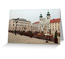 Historic Széchenyi Square II Greeting Card