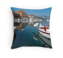 reflections in Hvar Throw Pillow