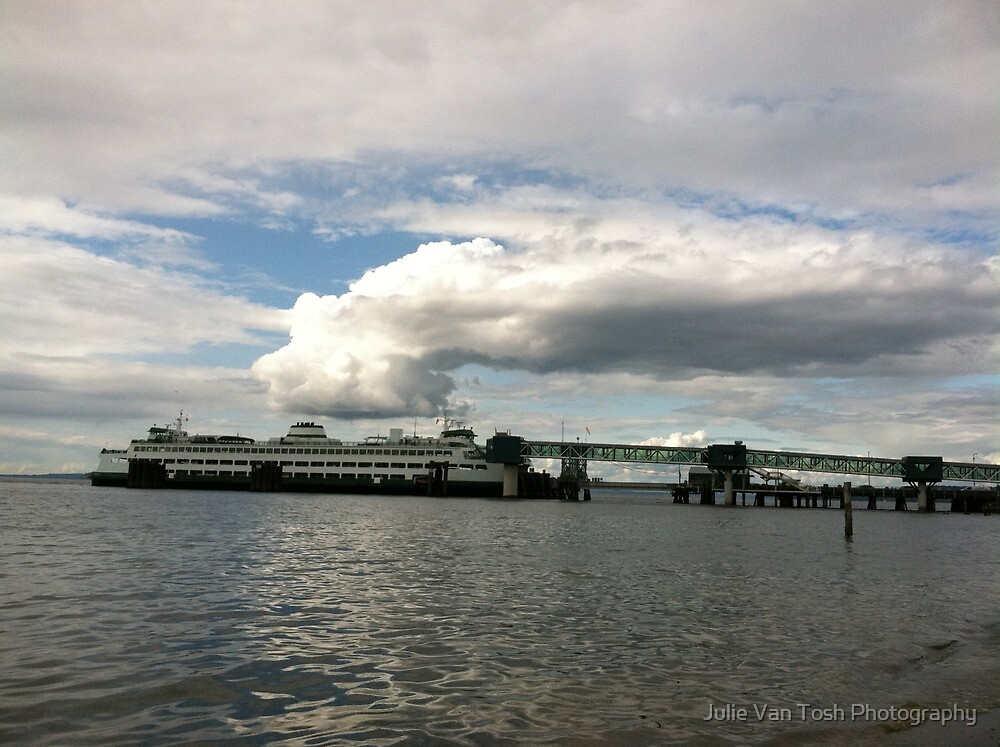 Ferry boat out of Edmonds, WA by Julie Van Tosh Photography