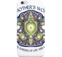 A Mother's Womb: God's Garden of Life and Love iPhone Case/Skin