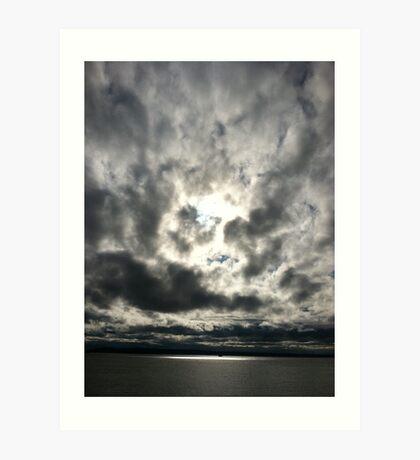 Sky at sea Art Print