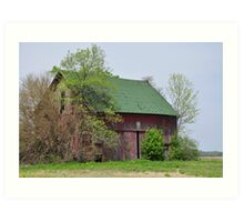 Red Barn Near Redkey, Indiana Art Print