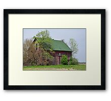 Red Barn Near Redkey, Indiana Framed Print