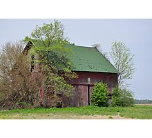 Red Barn Near Redkey, Indiana Photographic Print