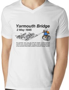 Yarmouth Bridge (Light) Mens V-Neck T-Shirt