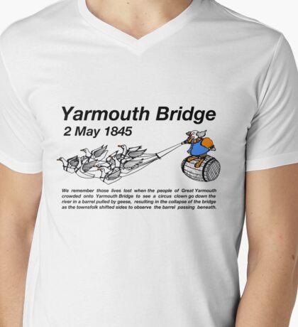 Yarmouth Bridge (Light) Mens V-Neck T-Shirt