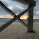 Blurred Wharf and Ocean by salvadorleary