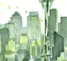 Seattle Watercolor Space Needle Skyline Sticker