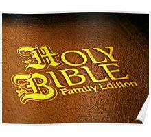 HOLY BIBLE FAMILY EDITION Poster