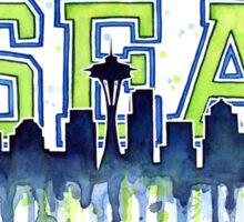 Seattle Seahawks 12th Man Art Watercolor Sticker
