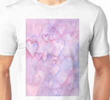 Hearts Watercolor Unisex T-Shirt