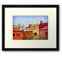 Little Houses Framed Print
