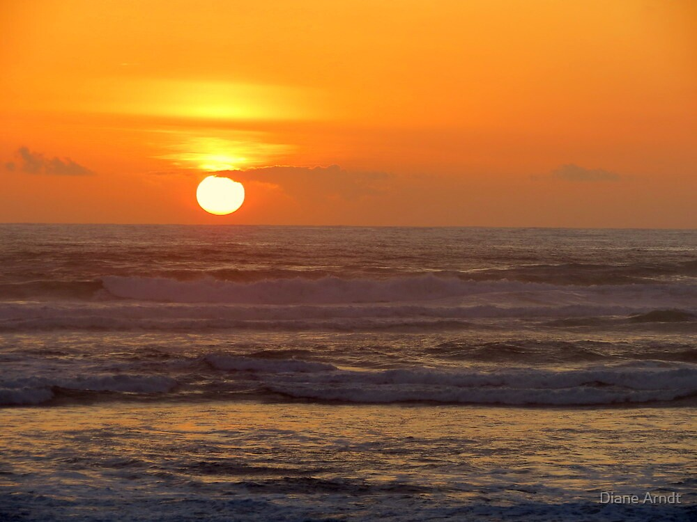 Our 25th Anniversary Sunset.....Florence, Oregon by Diane Arndt