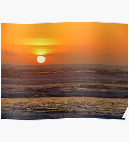 Our 25th Anniversary Sunset.....Florence, Oregon Poster