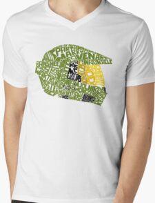 Halo text Art Mens V-Neck T-Shirt