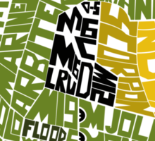 Halo text Art Sticker