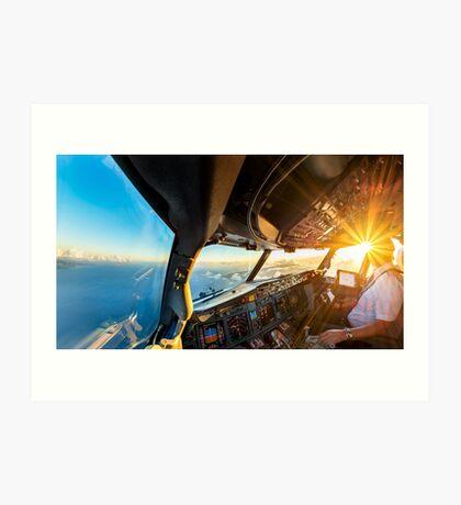 sunny cockpit Art Print