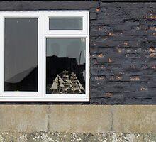 Ship in a Quayside Window by Ian Ker