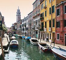 Street scene, Venice by John Lines