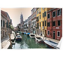Street scene, Venice Poster