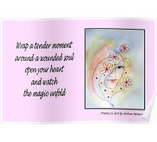Poetry in Art - A Tender Moment Poster