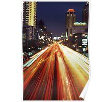 Bangkok Street Scene Poster