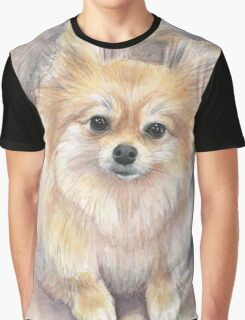 Pomeranian Watercolor Graphic T-Shirt