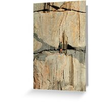 The Rock Climber Greeting Card