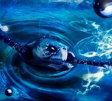 Blue Turtle by Cliff Vestergaard