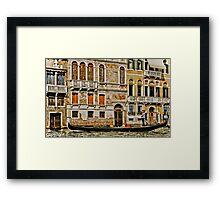Gondola Ride in Venice Italy Framed Print