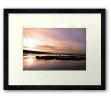 beale purple beach dawn Framed Print