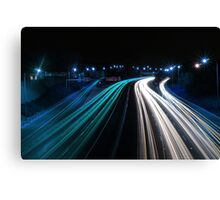 Traffic in Electric Blue Canvas Print