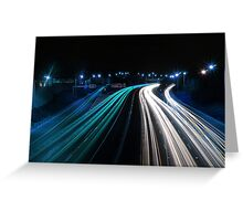 Traffic in Electric Blue Greeting Card