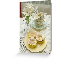 Three Vanilla Cupcakes Greeting Card