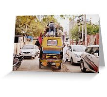 Auto Rickshaw Carry Goods and People in India Greeting Card
