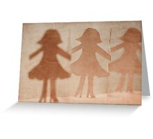 girls on the avenue Greeting Card