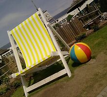 Deck chair and ball by UnUnique
