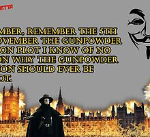 5th Of November V for Vendetta by UKDxGFX