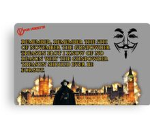 5th Of November V for Vendetta Canvas Print