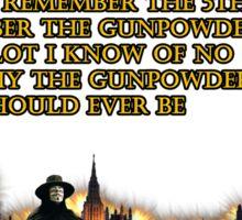 5th Of November V for Vendetta Sticker