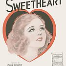 I STILL CALL YOU SWEETHEART (vintage illustration) by ART INSPIRED BY MUSIC