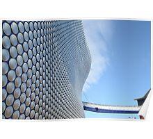 Facade of Bullring Shopping Centre, Birmingham, England Poster