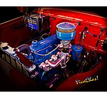 Oh So Simple Sanitary Truck Engine Photographic Print