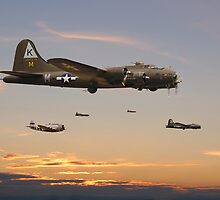B17 - 379 Sqdn Homeward by Pat Speirs