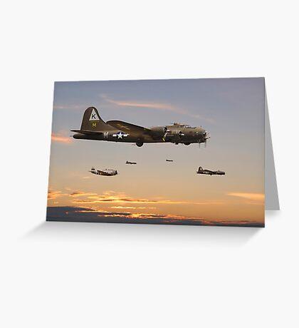 B17 - 379 Sqdn Homeward Greeting Card