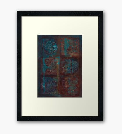 Passion Play - 6 of Hearts Framed Print