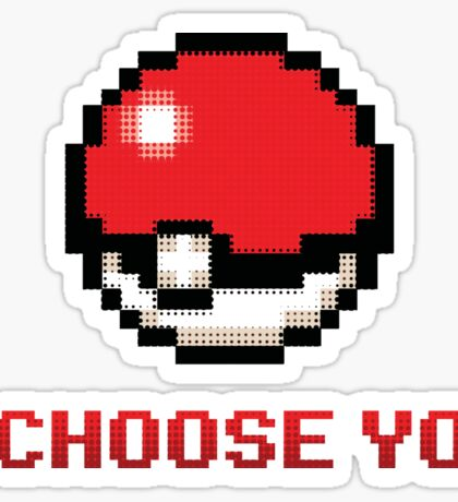 I Choose You - Pixel Pokeball Sticker